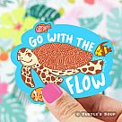 Go With the Flow Sea Turtle Vinyl Sticker