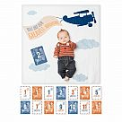 "Lulujo ""Greatest Adventure"" Baby's First Year Blanket & Cards Set"