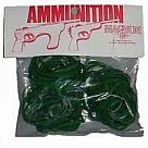 Rubber Band Ammo, Green (1 oz)
