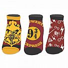 Harry Potter Ankle Socks, 3-Pair Pack