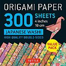 "Origami Paper, Japanese Washi Patterns (300 4"" Sheets)"