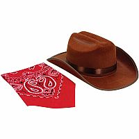 Jr. Cowboy or Cowgirl Hat with Bandanna