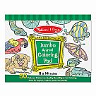 Jumbo Coloring Pad, Animals