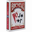 Bicycle Large Print Playing Card (Assorted Colors)