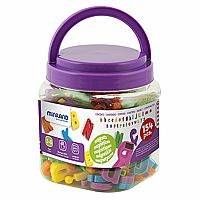 Magnetic Lowercase Letters, 154 Piece Set