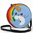 Narwhal in Rainbow Crossbody Bag