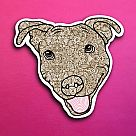 Brown Pit Bull Vinyl Sticker