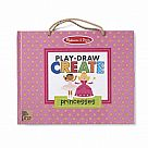 Play, Draw, Create Reusable Drawing & Magnet Kit - Princesses