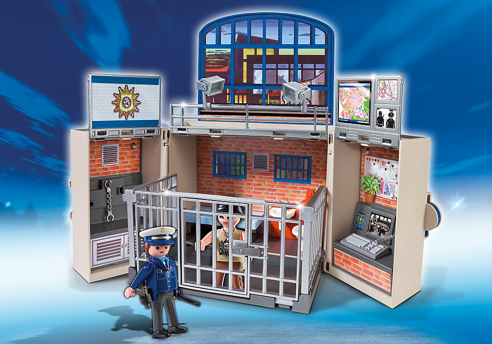 5421 playmobil police station play my secret box 5421. Black Bedroom Furniture Sets. Home Design Ideas