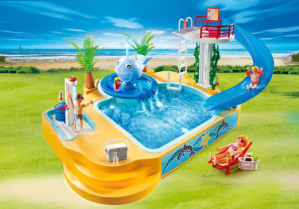 Playmobil 5435 Childrenu0027s Pool With Slide