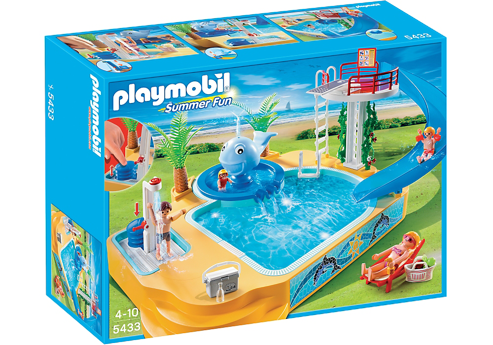 Delightful Playmobil 5435 Childrenu0027s Pool With Slide