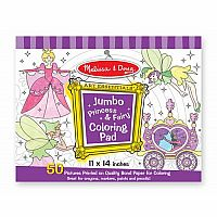 Jumbo Coloring Pad, Princess and Fairy