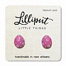 Purple Easter Egg Earrings