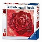 500 Piece Puzzle: Red Rose