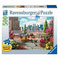 500 Piece Large Format Puzzle, Rooftop Garden