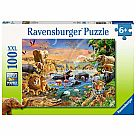 100 Piece Puzzle Savannah Waterhole