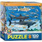 100 Piece Puzzle, Sharks (Eurographics)