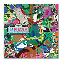 64 Piece Puzzle, Sloths at Play