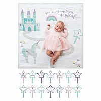 "Lulujo ""Something Magical"" Baby's First Year Blanket & Cards Set"