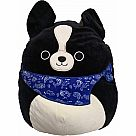 "16"" Squishmallow, Tommy the Black Dog"