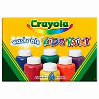 Crayola 6 ct. Assorted Color Washable Paint